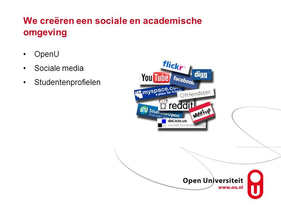 We creëren een sociale en academische omgeving OpenU Sociale media Studentenprofielen