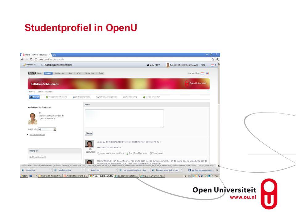 Studentprofiel in OpenU