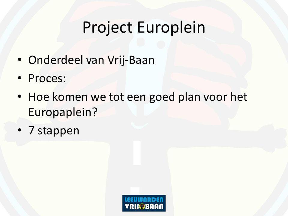 Project Europlein Onderdeel van Vrij-Baan Proces: Hoe komen we tot een goed plan voor het Europaplein? 7 stappen