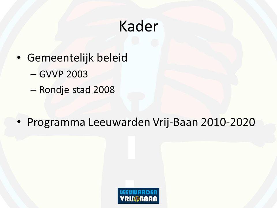 Kader Gemeentelijk beleid – GVVP 2003 – Rondje stad 2008 Programma Leeuwarden Vrij-Baan 2010-2020