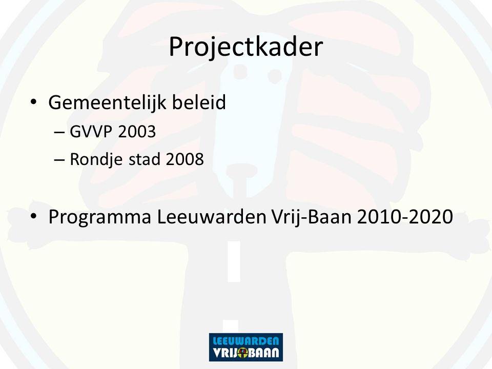 Projectkader Gemeentelijk beleid – GVVP 2003 – Rondje stad 2008 Programma Leeuwarden Vrij-Baan 2010-2020