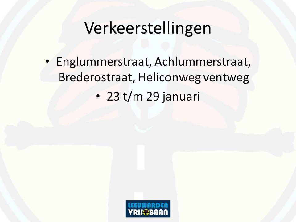 Verkeerstellingen Englummerstraat, Achlummerstraat, Brederostraat, Heliconweg ventweg 23 t/m 29 januari