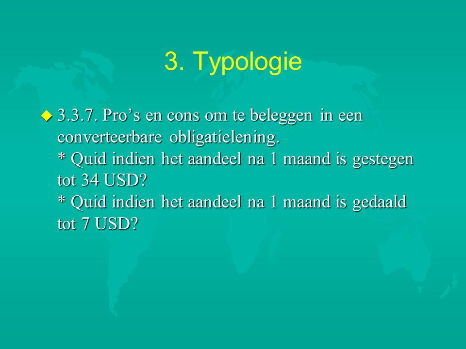 3.Typologie u 3.3.7. Pro's en cons om te beleggen in een converteerbare obligatielening.