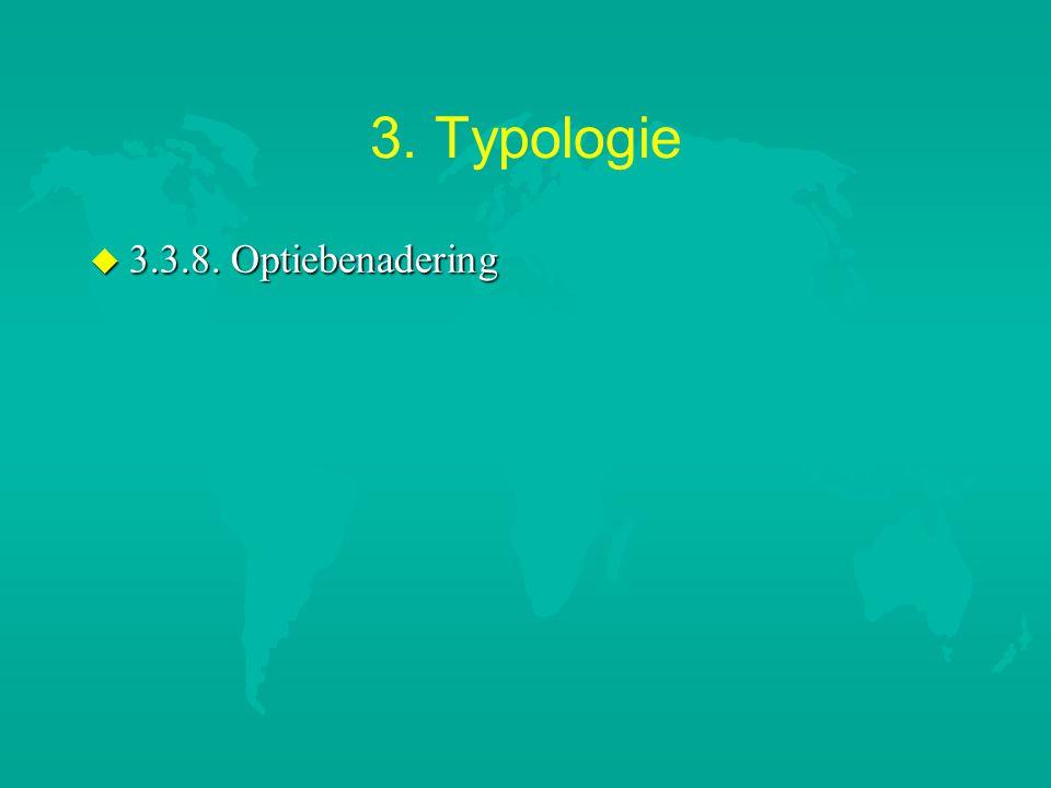 3. Typologie u 3.3.8. Optiebenadering