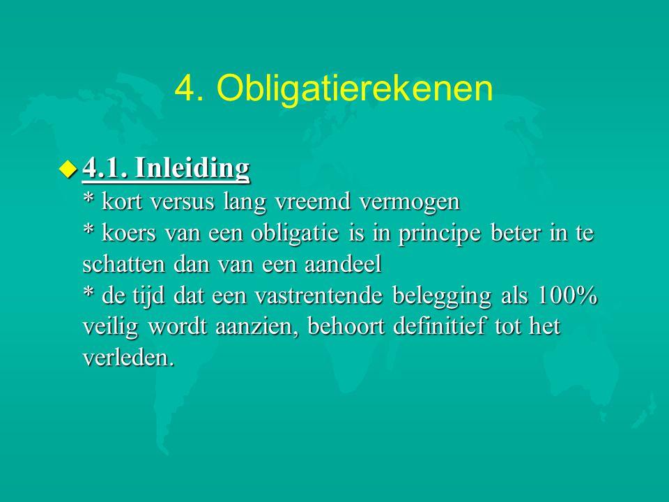 4.Obligatierekenen u 4.1.