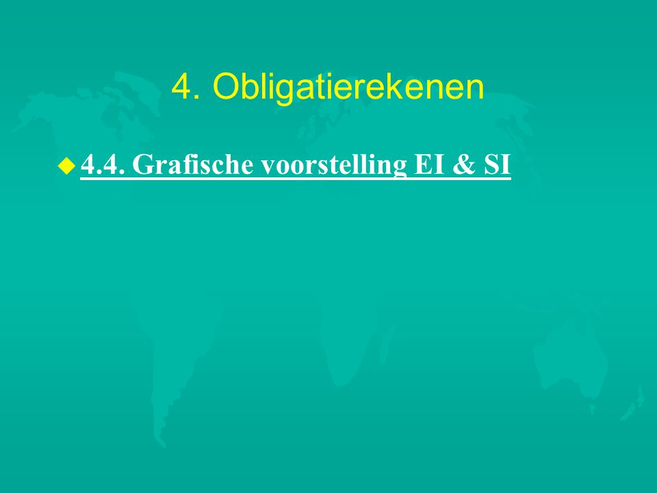 4. Obligatierekenen u u 4.4. Grafische voorstelling EI & SI