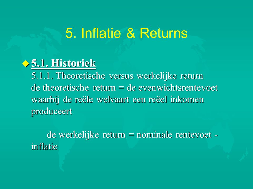 5.Inflatie & Returns u 5.1.2.