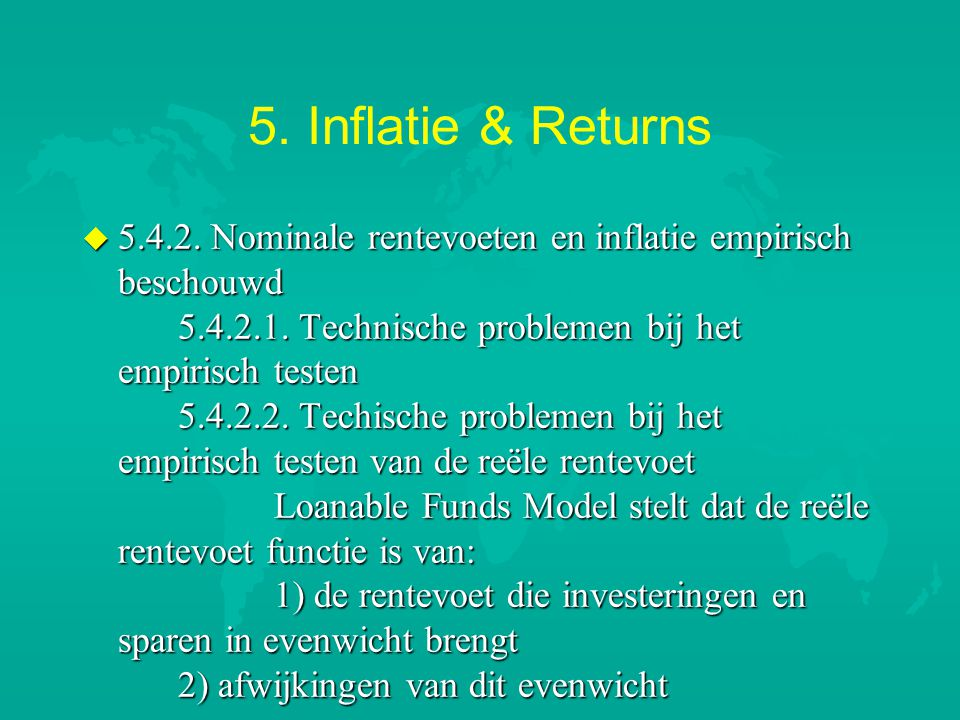 5.Inflatie & Returns u 5.4.2.3.