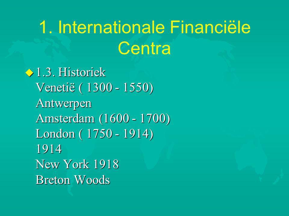 1.Internationale Financiële Centra u 1.3.
