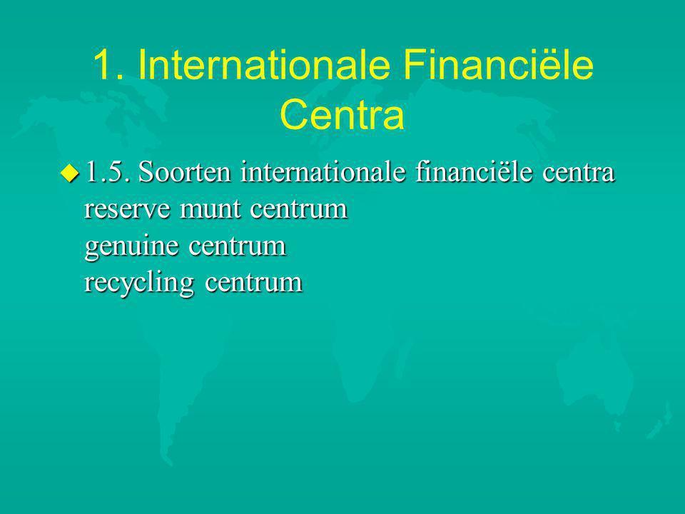 1.Internationale Financiële Centra u 1.5.
