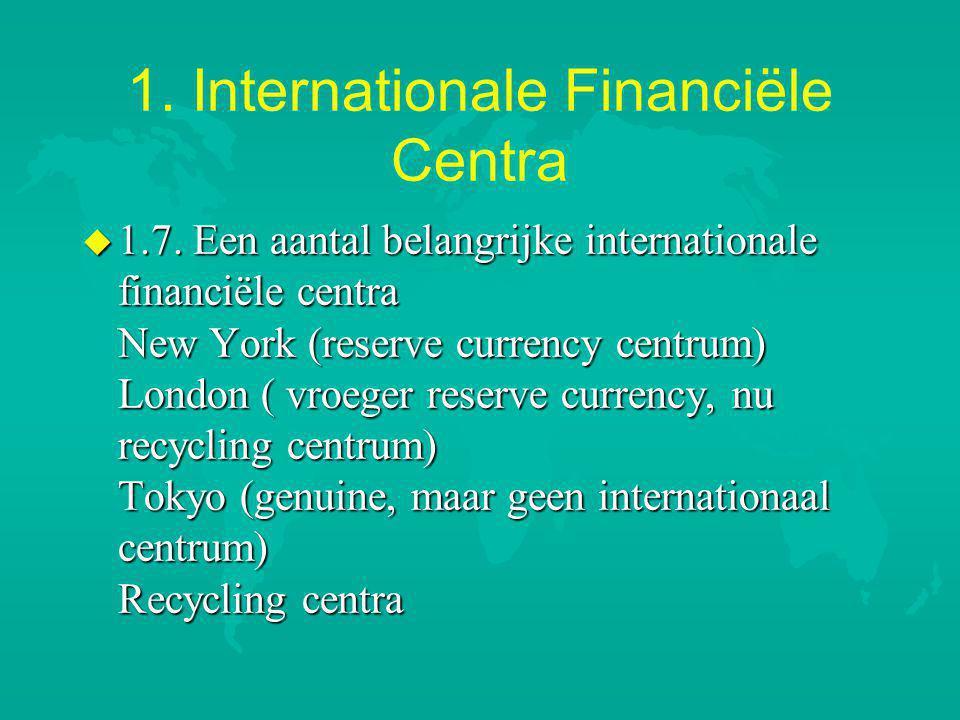 1.Internationale Financiële Centra u 1.7.