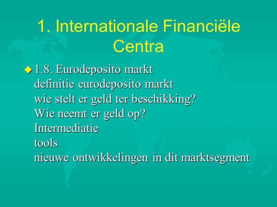 1.Internationale Financiële Centra u 1.8.