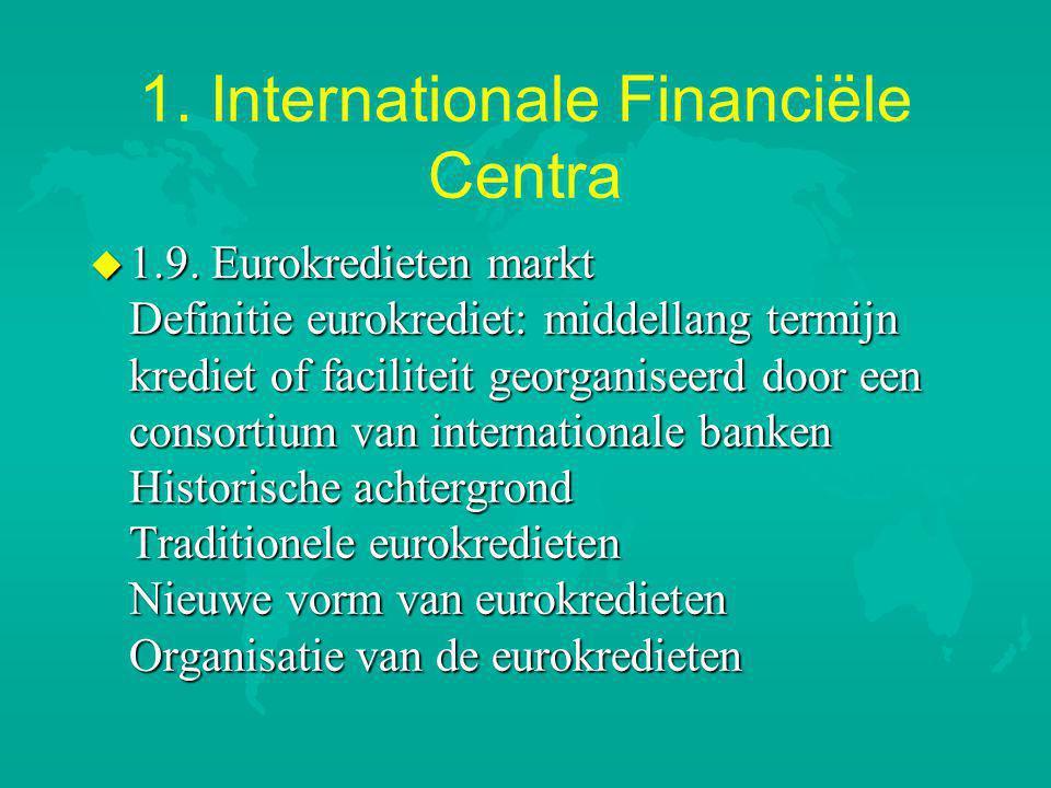 1.Internationale Financiële Centra u 1.9.