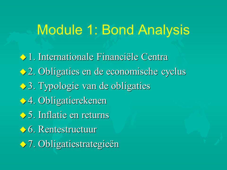 Module 1: Bond Analysis u 1.Internationale Financiële Centra u 2.
