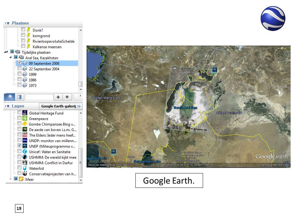 19 Google Earth.