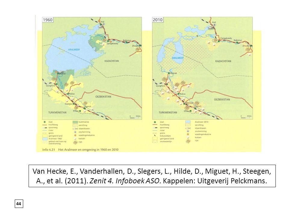 44 Van Hecke, E., Vanderhallen, D., Slegers, L., Hilde, D., Miguet, H., Steegen, A., et al. (2011). Zenit 4. Infoboek ASO. Kappelen: Uitgeverij Pelckm