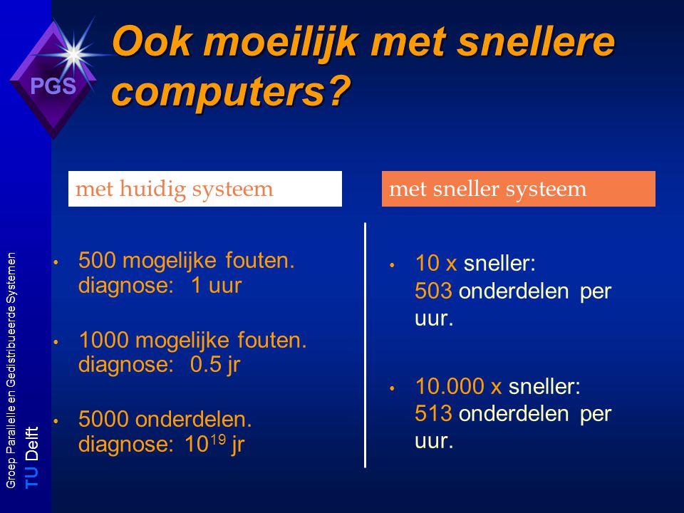 T U Delft Groep Parallelle en Gedistribueerde Systemen PGS Ook moeilijk met snellere computers.