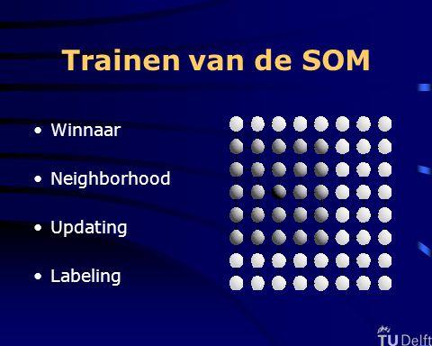 Trainen van de SOM Winnaar Neighborhood Updating Labeling