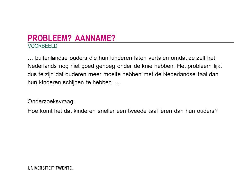 … buitenlandse ouders die hun kinderen laten vertalen omdat ze zelf het Nederlands nog niet goed genoeg onder de knie hebben. Het probleem lijkt dus t