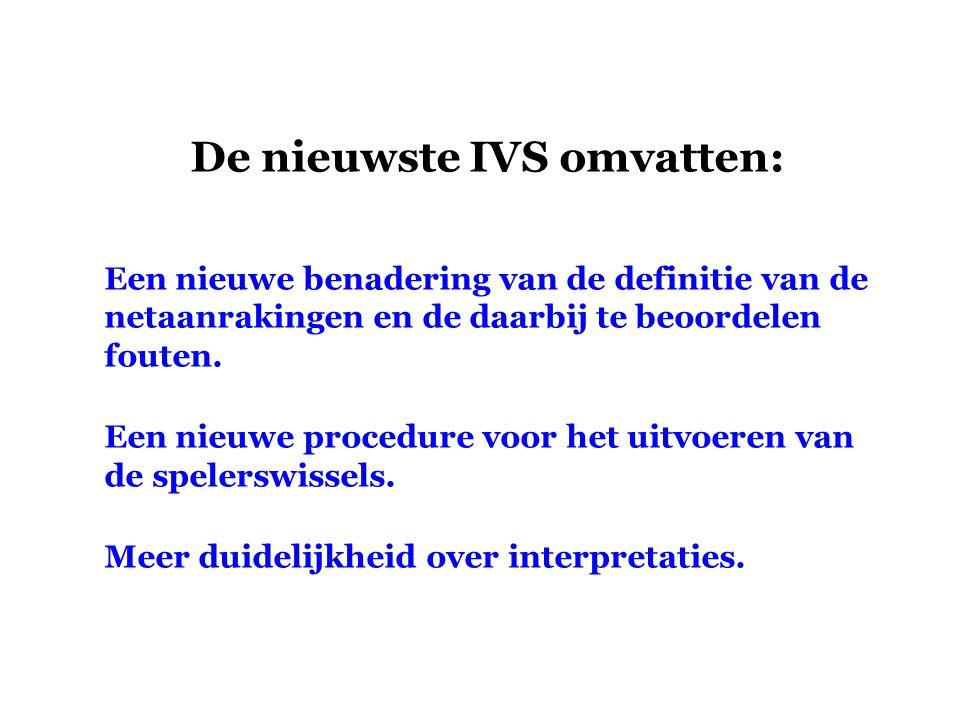 De nieuwste IVS omvatten: Een nieuwe benadering van de definitie van de netaanrakingen en de daarbij te beoordelen fouten. Een nieuwe procedure voor h