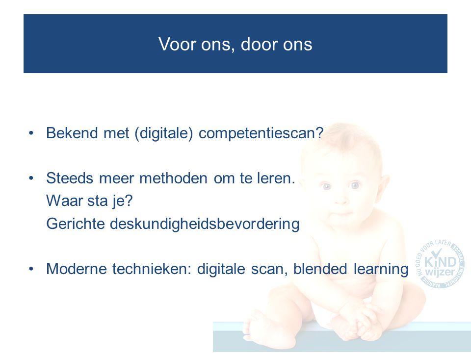 KINDwijzer en Opzet Digitale KINDwijzer academie Landelijk netwerk.