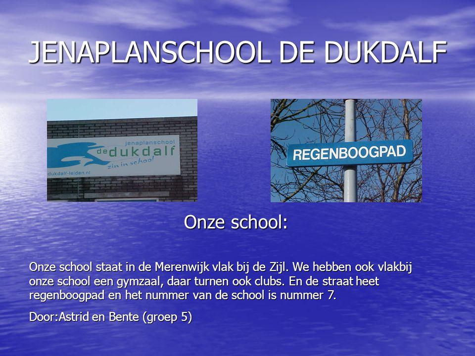 Onze school staat in de Merenwijk vlak bij de Zijl.