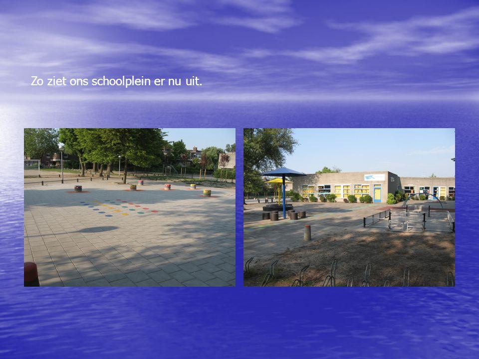 Zo ziet ons schoolplein er nu uit.