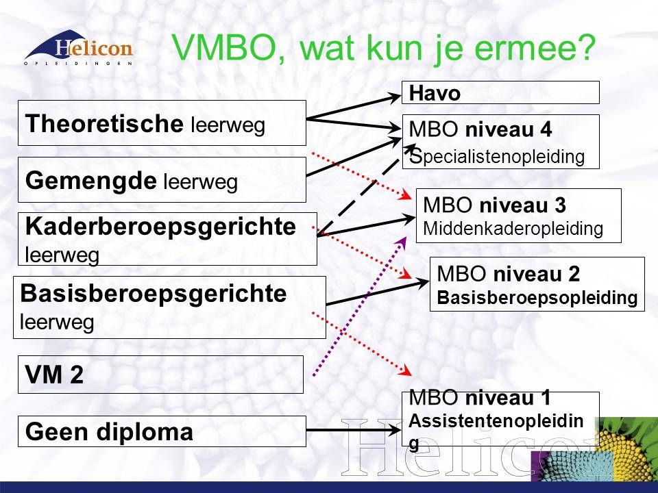 VMBO, wat kun je ermee.