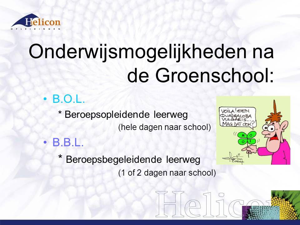 Onderwijsmogelijkheden na de Groenschool: B.O.L.