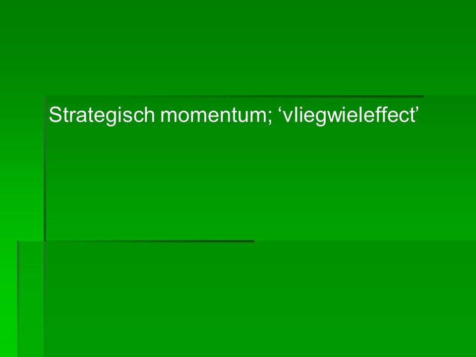 Momentum = massa x snelheid