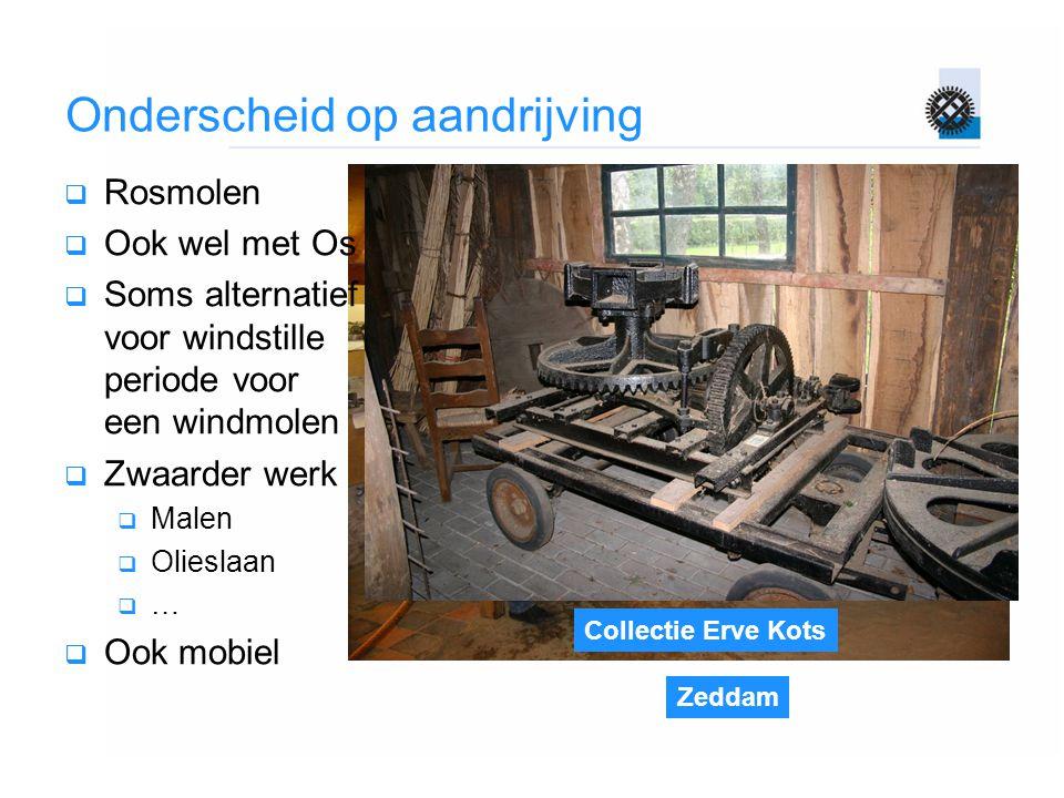 Zeddam Collectie Erve Kots Onderscheid op aandrijving  Rosmolen  Ook wel met Os  Soms alternatief voor windstille periode voor een windmolen  Zwaa