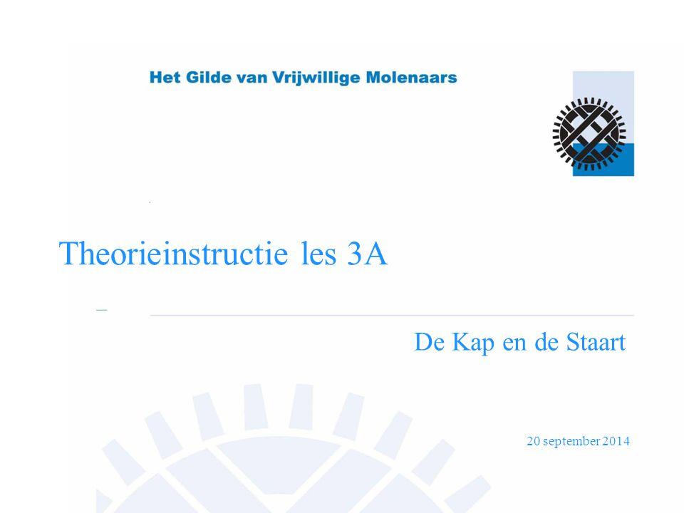 20 september 2014 Theorieinstructie les 3A De Kap en de Staart