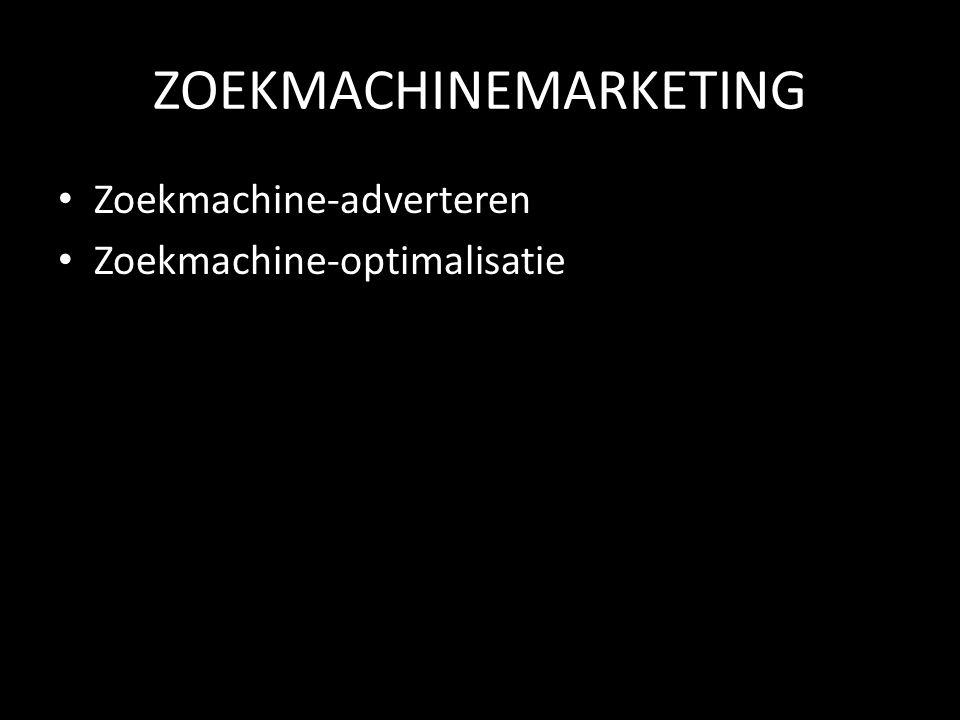 ZOEKMACHINEMARKETING Zoekmachine-adverteren Zoekmachine-optimalisatie