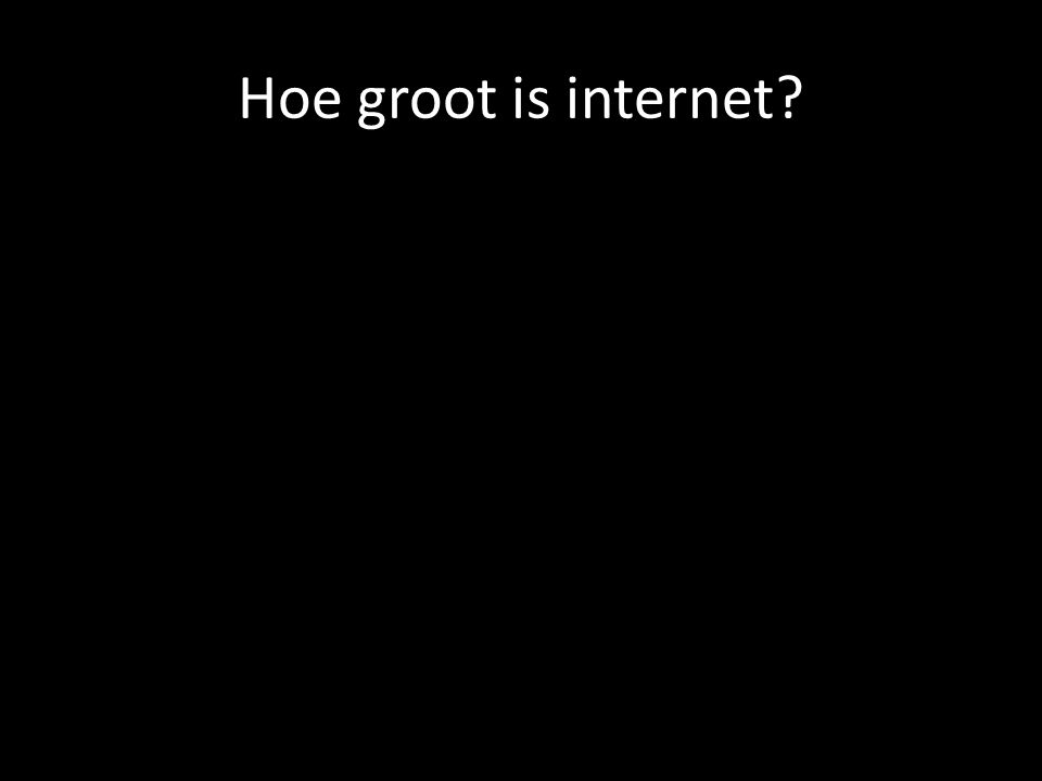 Hoe groot is internet