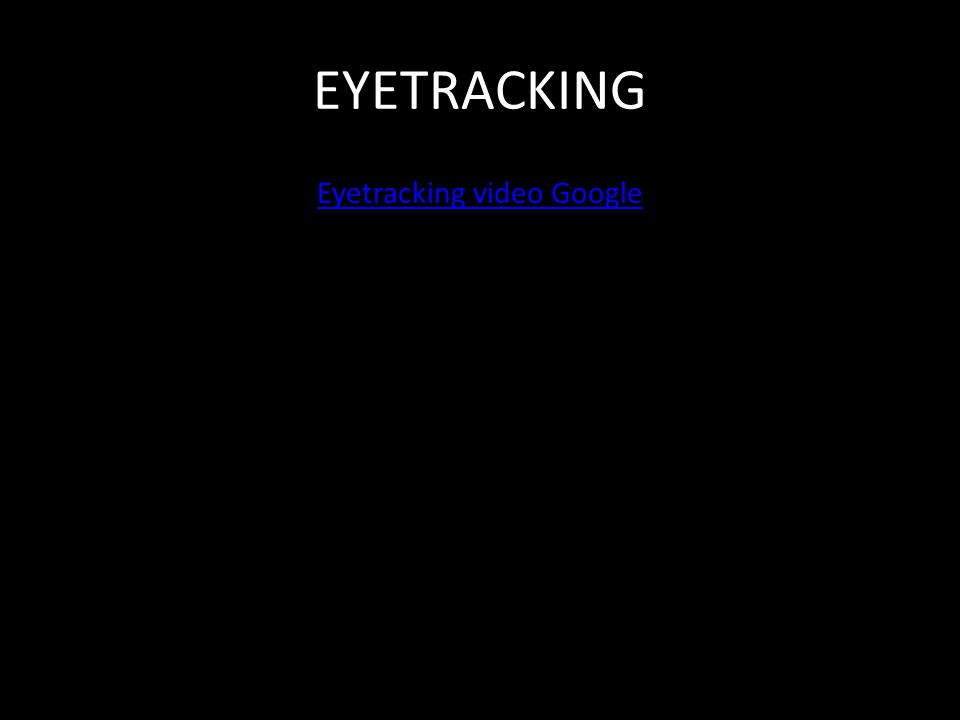 EYETRACKING Eyetracking video Google