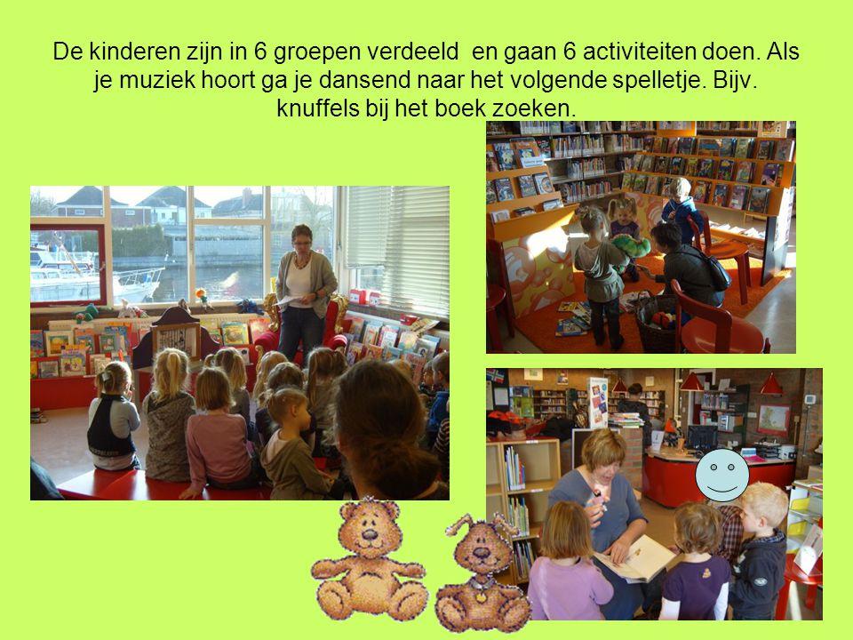De kinderen zijn in 6 groepen verdeeld en gaan 6 activiteiten doen.