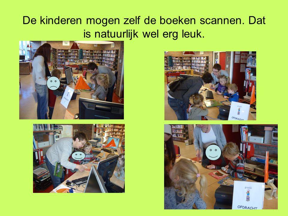 De kinderen mogen zelf de boeken scannen. Dat is natuurlijk wel erg leuk.