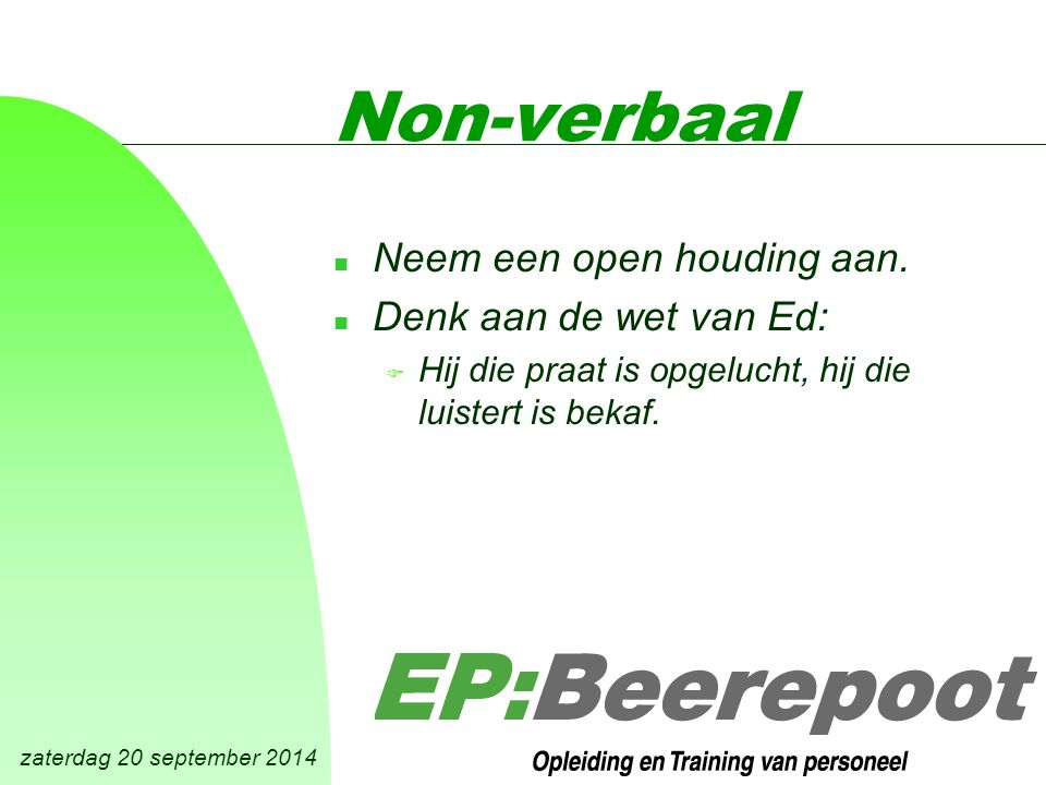 zaterdag 20 september 2014 Hoe help je.n 1. De klacht registreren.