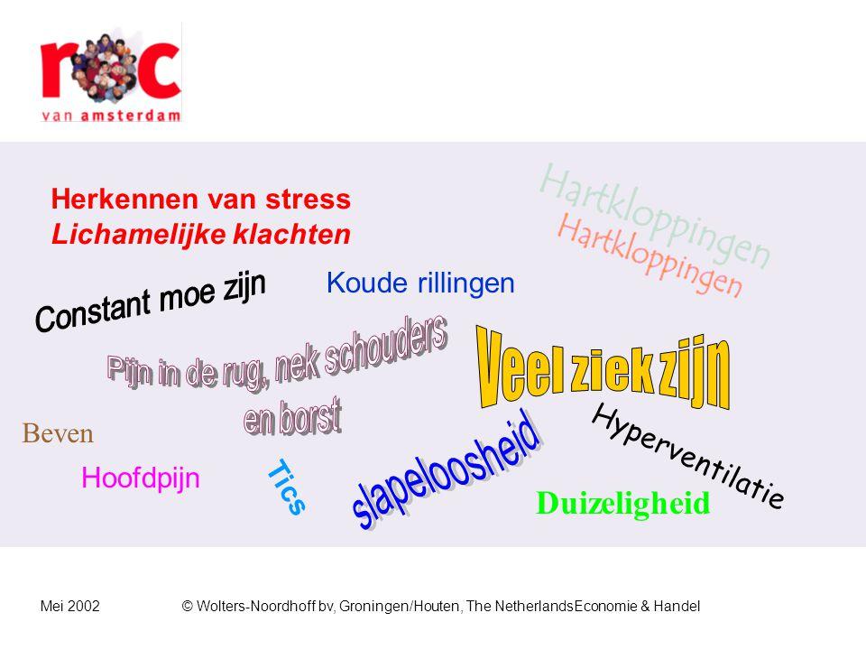 Mei 2002© Wolters-Noordhoff bv, Groningen/Houten, The NetherlandsEconomie & Handel Klachten over leidinggevenden en collega's  Onvoldoende bereidheid