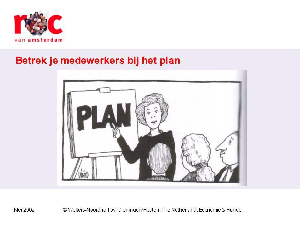 Mei 2002© Wolters-Noordhoff bv, Groningen/Houten, The NetherlandsEconomie & Handel Het voorkomen van stress  Stellen van realistische doelen voor med