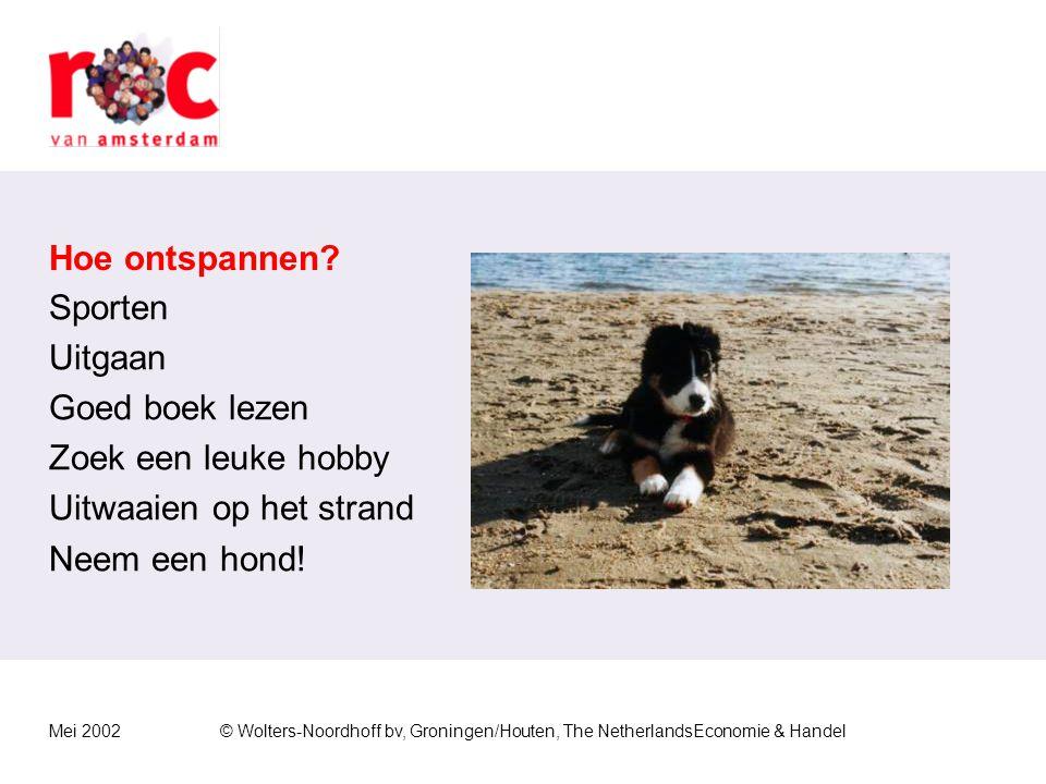 Mei 2002© Wolters-Noordhoff bv, Groningen/Houten, The NetherlandsEconomie & Handel Draaglast verlagen Hoeveelheid werk dat iemand heeft.  Voorrang ge