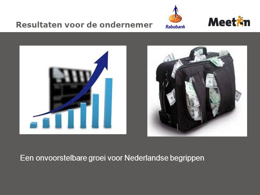 Resultaten voor de ondernemer Een onvoorstelbare groei voor Nederlandse begrippen