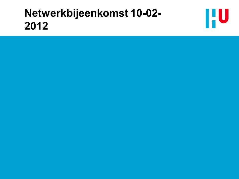 Netwerkbijeenkomst 10-02- 2012