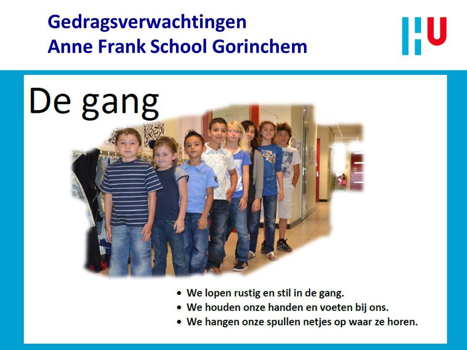 Gedragsverwachtingen Anne Frank School Gorinchem