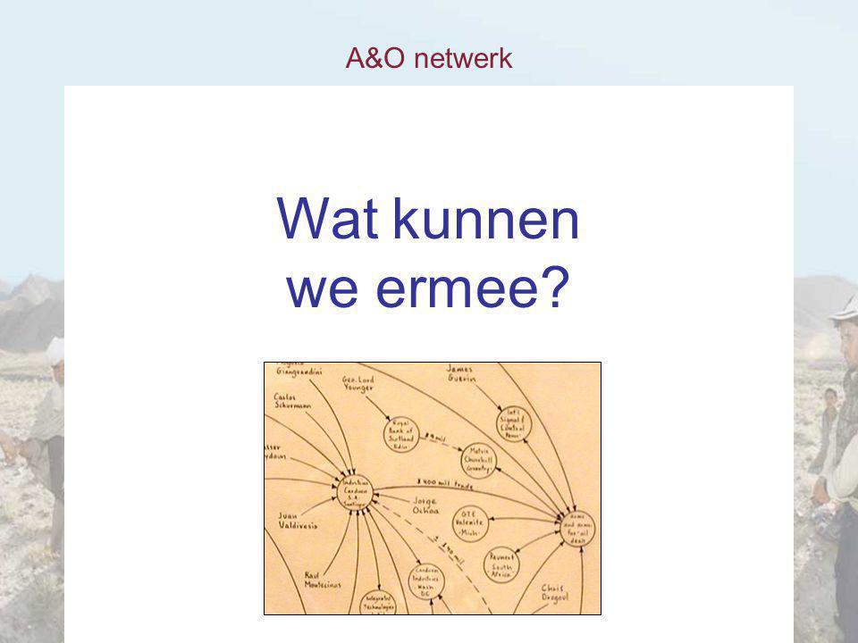 A&O netwerk Wat kunnen we ermee?