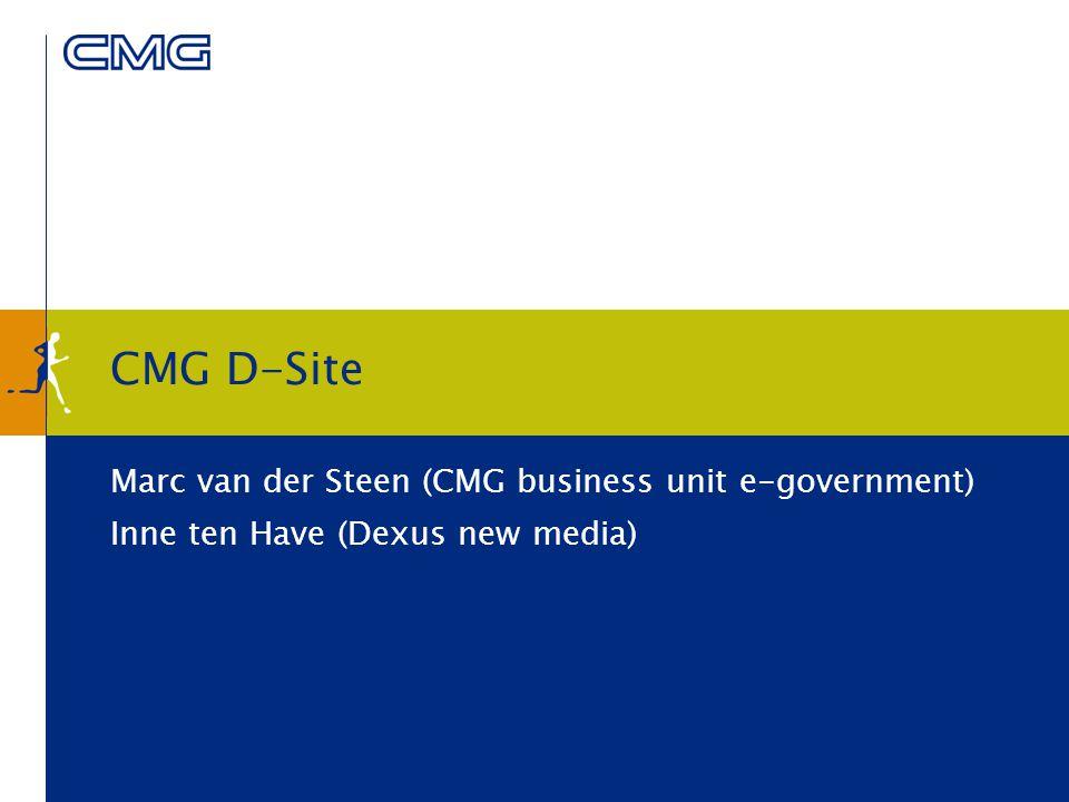 3 Presentatie Introductie CMG Public Sector Dexus New Media D-Site Concept Werking Toepassingen Demonstratie D-Site