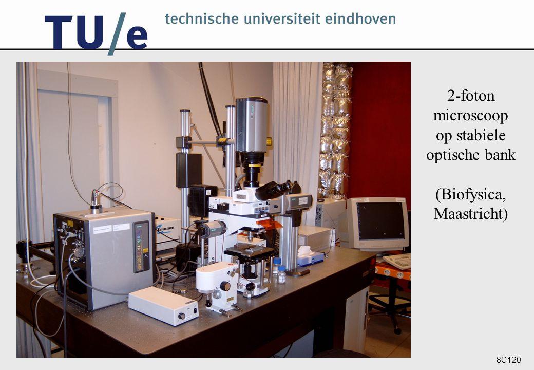 8C120 2-foton microscoop op stabiele optische bank (Biofysica, Maastricht)