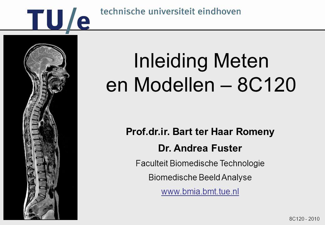 8C120 - 2010 Inleiding Meten en Modellen – 8C120 Prof.dr.ir. Bart ter Haar Romeny Dr. Andrea Fuster Faculteit Biomedische Technologie Biomedische Beel