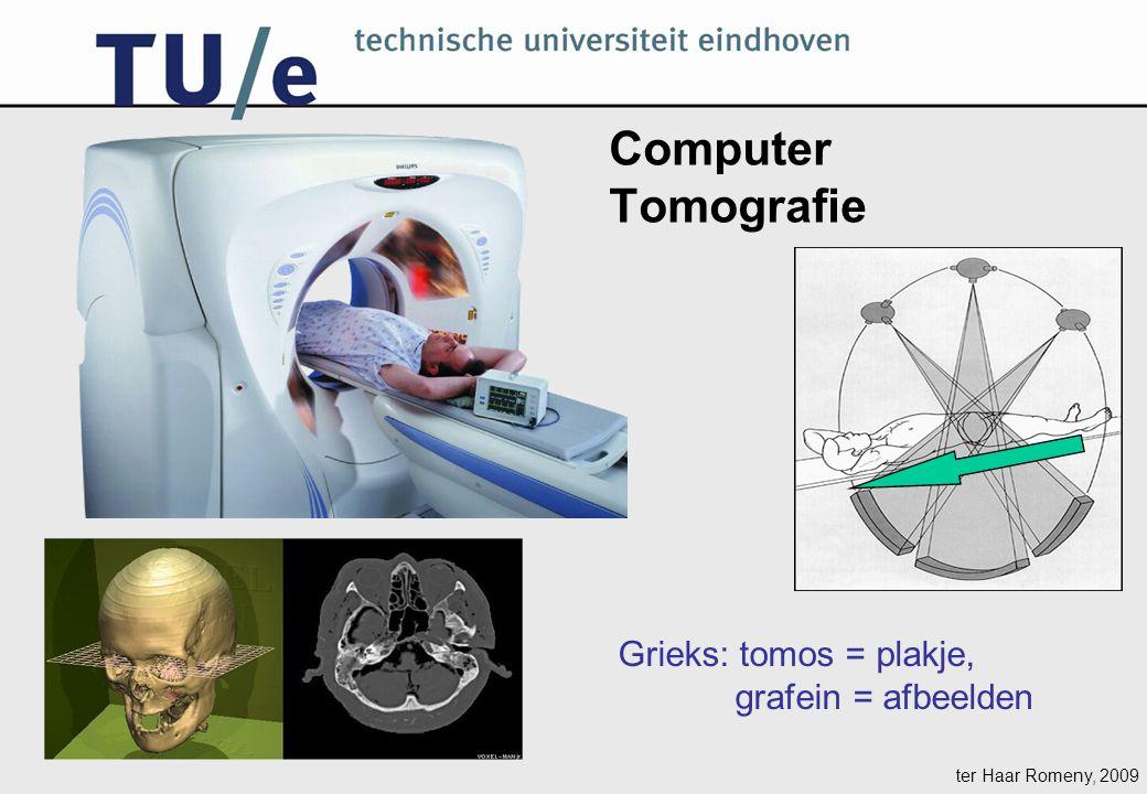 ter Haar Romeny, 2009 Computer Tomografie Grieks: tomos = plakje, grafein = afbeelden