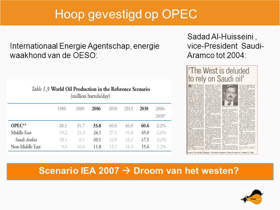 Hoop gevestigd op OPEC Scenario IEA 2007  Droom van het westen.